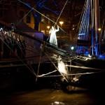 Opening Winterwelvaart 2009, locatietheatervoorstelling op het water