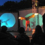 Points of Reference, crossover voorstelling met circus en (live) video